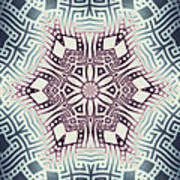 Fractal Snowflake Pattern 1 Poster