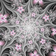 Fractal Soft Flowers Poster