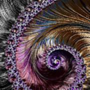 Fractal Spiral 2 - A Fractal Abstract Poster