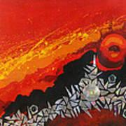 Fractal Sunrise Poster