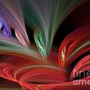 Fractal Vortex Swirl Poster