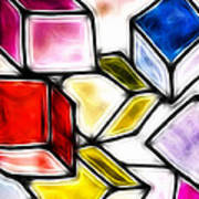 Fractalius Cubes Poster by Sharon Lisa Clarke