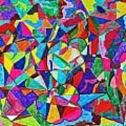 Fractured Kaleidoscope Poster