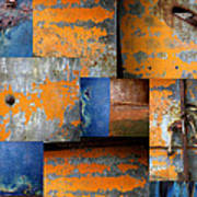Fragments Antique Metal Poster by Ann Powell
