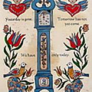 Fraktur Scriften-time Poster