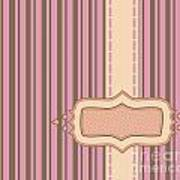 Frame With Ribbon Pinstripe Vector Poster