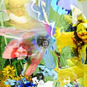Framed In Flowers Poster