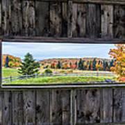 Framed-autumn In Vermont Poster