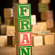 Fran - Alphabet Blocks Poster
