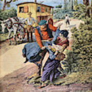 France Gypsies, 1890s Poster