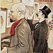 France Paris Poster Of Paul Verlaine And Jean Moreas Poster
