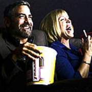 Frances Mcdormand And George Clooney @ Burn After Reading Poster