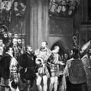 Francis I & Charles V Poster