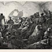 Franco-prussian War Prussians In Metz Poster