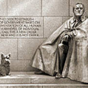 Franklin Delano Roosevelt Memorial - Bits And Pieces 7 Poster