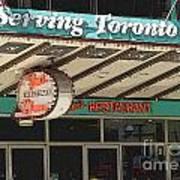 Fran's Restaurant  Toronto Diner Icon Poster