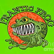 Frantic Frog Poster