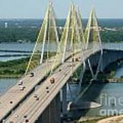 Fred Hartman Bridge Houston Poster
