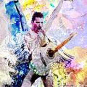 Freddie Mercury - Queen Original Painting Print Poster