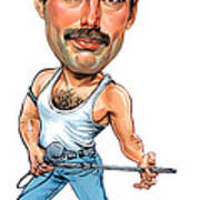 Freddie Mercury Poster by Art