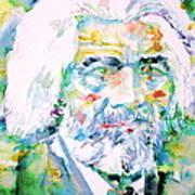 Frederick Douglass - Watercolor Portrait Poster