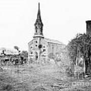 Fredericksburg Baptist Church damaged by battles 1864 Poster