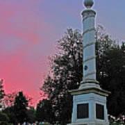 Fredericksburg Cemetery Sunset Poster
