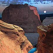 Free Climbing Glen Canyon Poster by Ric Soulen