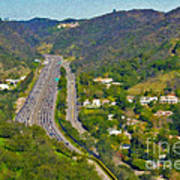 Freeway Sepulveda Pass Traffic Bel Air Crest California Poster