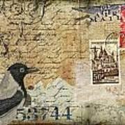 French Bird Postcard Poster