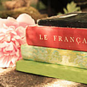 French Books And Peony Poster