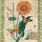 French Botanical Damask-a Poster