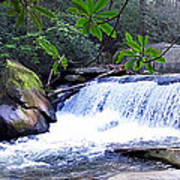French Broad River Waterfall Poster
