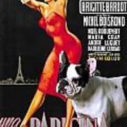 French Bulldog Art - Una Parigina Movie Poster Poster