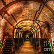French Champagne Cellar Poster