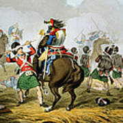French Cuirassiers At The Battle Poster