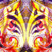 French Curve Abstract Movement Vi Mystic Flower Poster