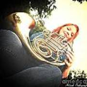 French Horn Below Poster