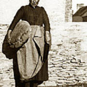 French Lady With A Very Large Bread France 1900 Poster