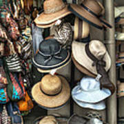 French Market Hats For Sale Poster