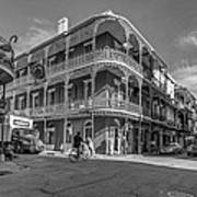 French Quarter Afternoon Bw Poster by Steve Harrington