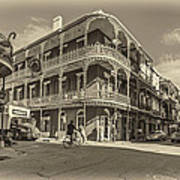 French Quarter Afternoon Sepia Poster