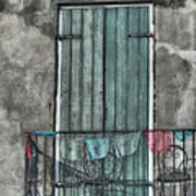 French Quarter Balcony Poster by Brenda Bryant