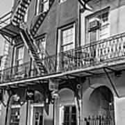 French Quarter Flair Bw Poster
