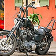 French Quarter Harley Poster