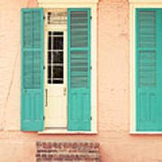 French Quarter Pastel Colours  Poster