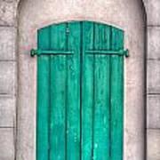 French Quarter Shutters Poster by Brenda Bryant