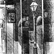 French Quarter Street Lamp Poster