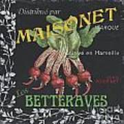 French Veggie Labels 2 Poster by Debbie DeWitt