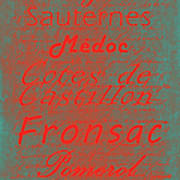 French Wines - 5 Champagne And Bordeaux Region Poster